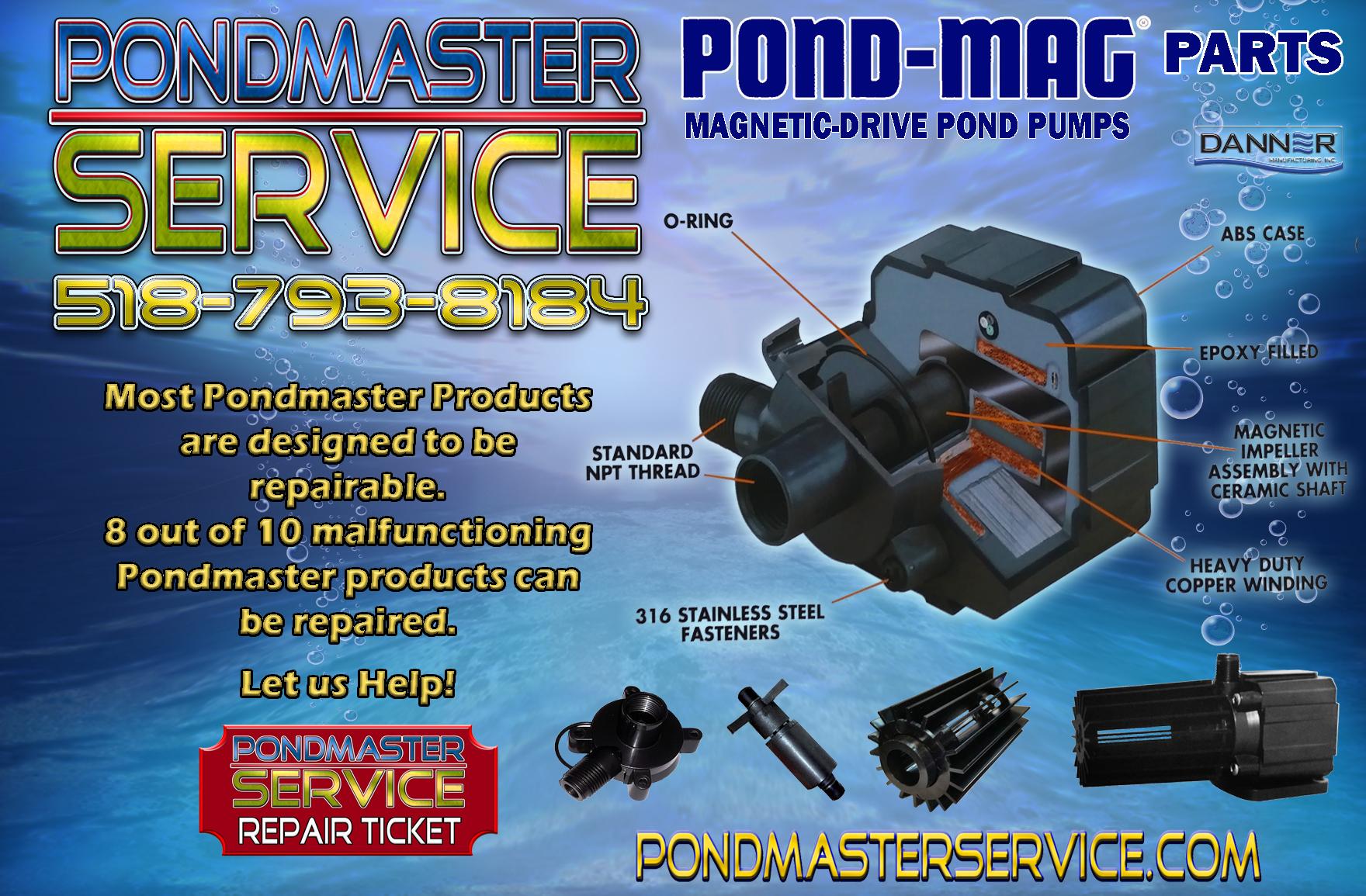 Danner Mfg Fish & Aquariums Pondmaster & Supreme Mag 2 Fractionating Impeller Assembly