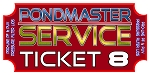REPAIR TICKET PONDMASTER PROLINE LOW PRESSURE FILTER LIDS ONLY, PUV-1000, PUV-2000, PUV-4000, P-1000, P-2000, P-4000