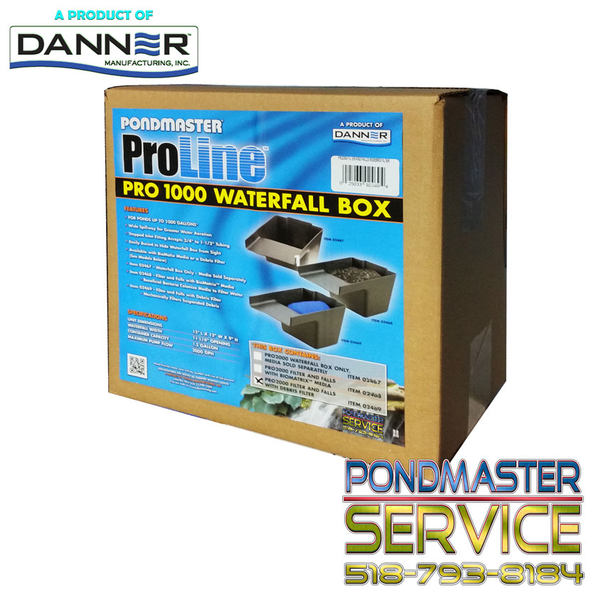 PONDMASTER - Pro-1000 Filter / Falls with Debris Pad