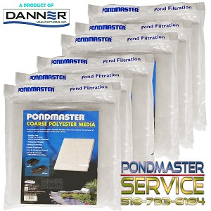 PONDMASTER - FILTER PAD COARSE-POLY for PMK FILTER KITS 1250 - 4400 - Case of 6
